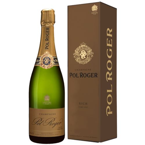 Pol Roger Rich Demi Sec NV 75cl Champagne Gift Boxed 12% ABV