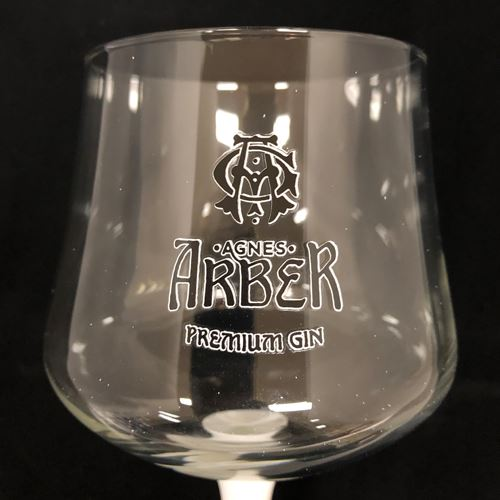 Agnes Arber Rhubarb Gin 70cl with Gin Glass