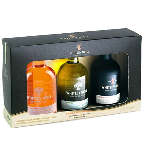 Whitley Neill Gin/Quince Gin /Blood Orange Vodka 3x5cl Gift Set 43% ABV
