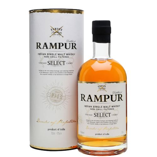 Rampur Select Indian Single Malt Whisky 70cl 43% ABV