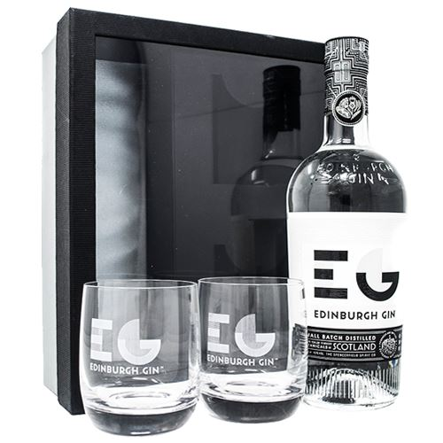 Edinburgh Gin 70cl and 2 Glass Gift Set