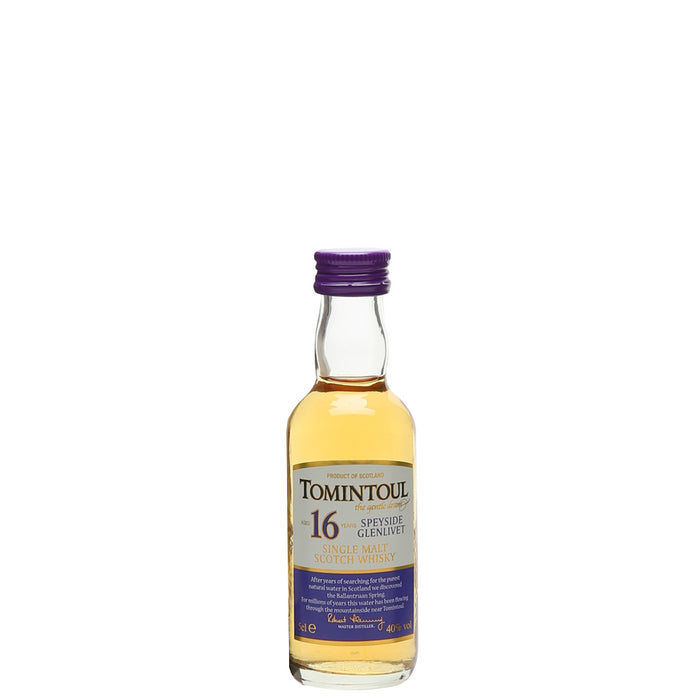 Tomintoul 16 Year Old Single Malt Whisky Miniature 5cl 40% ABV