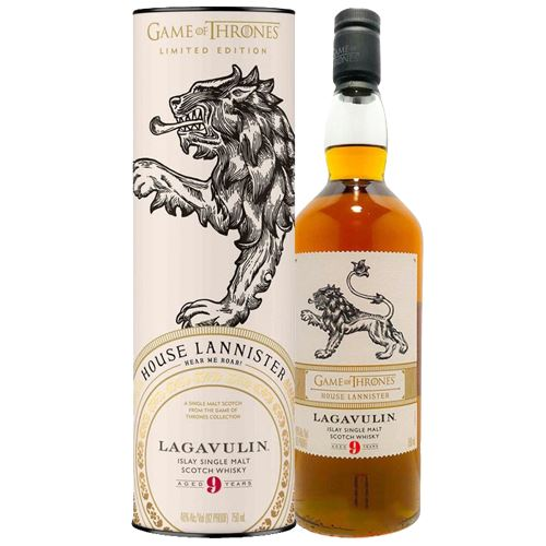 Game of Thrones House Lannister - Lagavulin 9 Year Old Whisky 70cl 46% ABV
