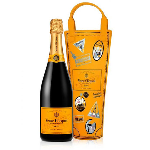 Veuve Clicquot Brut NV Champagne Yellow Label 75cl Shopping Bag Gift