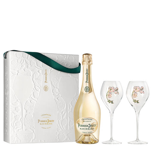 Perrier Jouet Blanc De Blancs Champagne 75cl Two Glass Gift