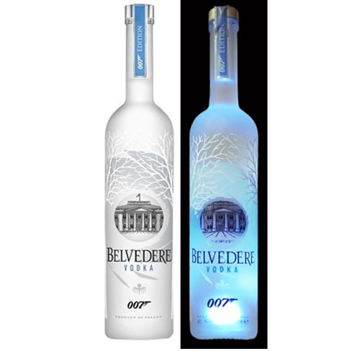 Belvedere Pure Vodka 175cl - James Bond 007 Spectre Limited Edition Illuminated Bottle 40% ABV