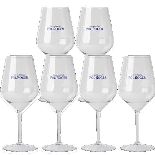 Pol Roger Champagne Set Of 6 Acrylic Glasses
