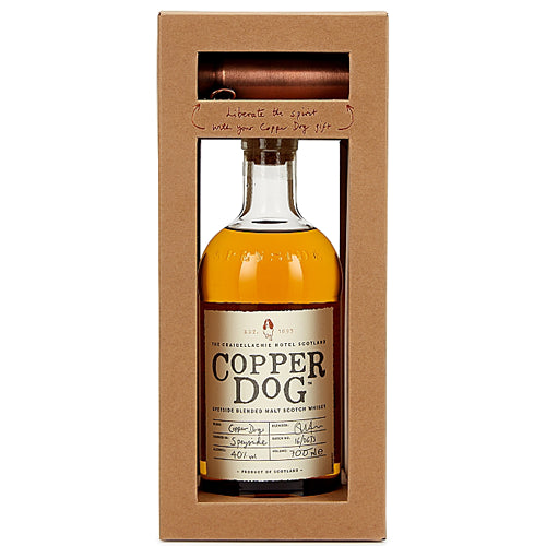 Copper Dog Blended Scotch Whisky with Dipping Dog Gift Boxed 70cl
