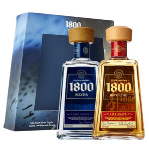 1800 Reposado & Silver Tequila 2 x 20cl Gift Pack