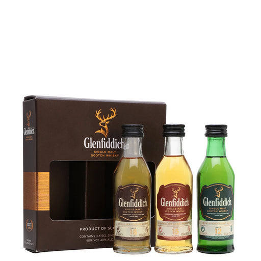 Glenfiddich Whisky Family Collection Miniature Gift Pack 3 x 5cl (12yo, 15yo, 18yo) 40% ABV