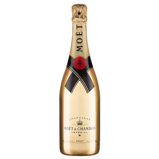 Moet and Chandon Brut Imperial NV Champagne Limited Edition Gold Bottle 75cl