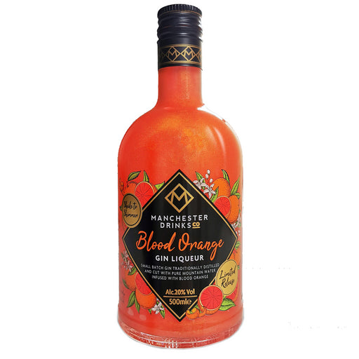 Manchester Drinks Co Blood Orange Gin Liqueur 50cl 20% ABV