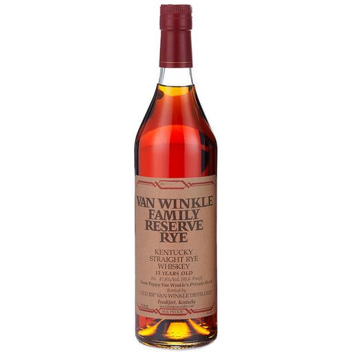 Van Winkle 13 Year Old Family Reserve Rye Whiskey 2020 Release 75cl 47.8%  ABV