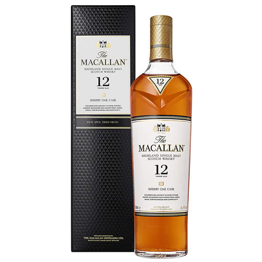 Macallan 12yo Sherry Oak Cask Whisky 70cl 40% ABV