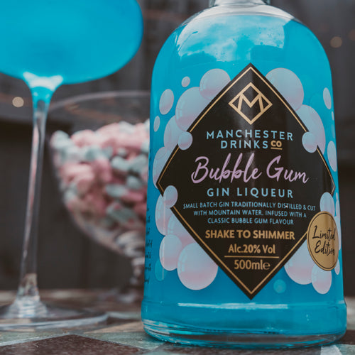 Manchester Drinks Co. BubbleGum Gin Liqueur 50cl 20% ABV