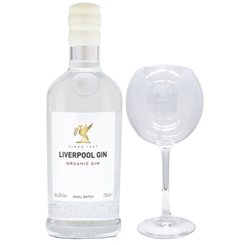 Liverpool Organic Gin 70cl with Copa Gin Glass