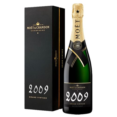 Moet and Chandon Grand Vintage Brut Champagne 2009 75cl in Gift Box 12.5% ABV