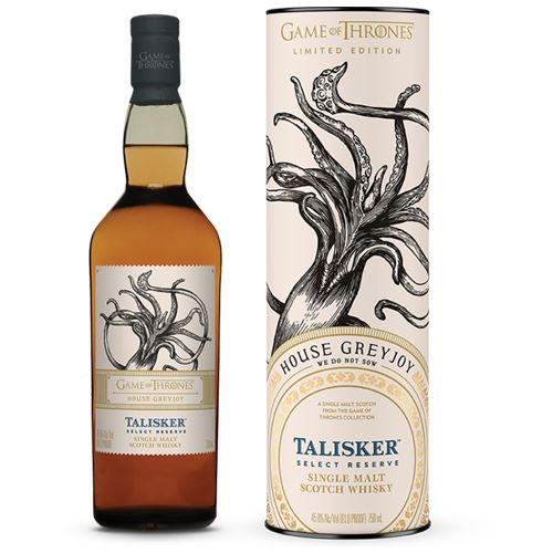Game of Thrones House Greyjoy - Talisker Select Reserve Whisky 70cl