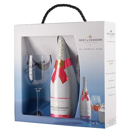 Moet and Chandon ICE Rosé 2 Glass Gift 12% ABV