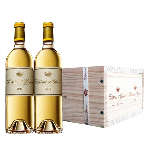 Château d'Yquem, 1er Grand Cru Classé, Sauternes, 2011 and 2013, 2x75cl in wooden gift pack 13% ABV