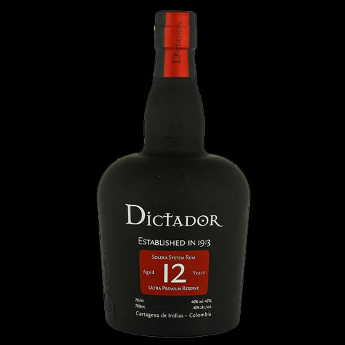 Dictador 12yo Rum 70cl 40% ABV Glass Gift Pack