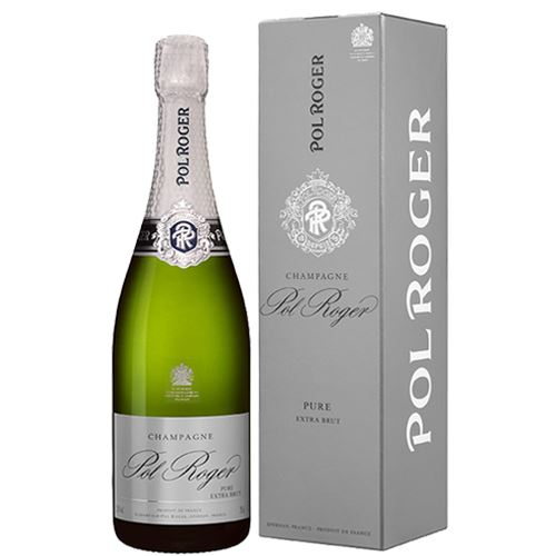 Pol Roger Pure Extra Brut NV 75cl Champagne Gift Boxed 12% ABV
