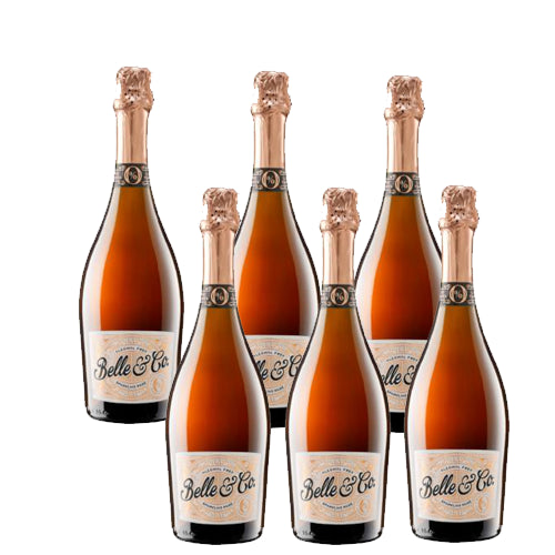 Belle & Co Sparkling Rose Case Of Six Alcohol Free 75cl
