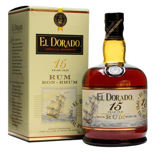 El Dorado 15 Year Old Rum 70cl 43% ABV