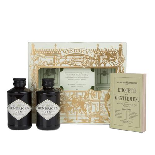 Hendricks Gin Lovers Guide Gift Pack 2 x 5cl 41.4% ABV