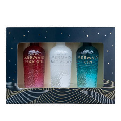 Mermaid Gin & Vodka Miniature Gift Pack 3 x 5cl