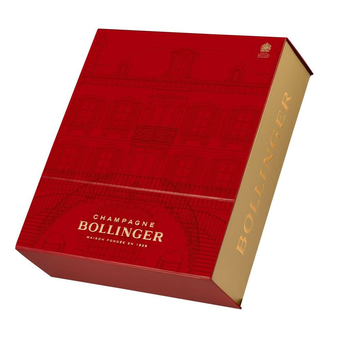 Bollinger Special Cuvee Champagne 75cl Red Gift Box With 2 Elizabeth Tulip Glasses
