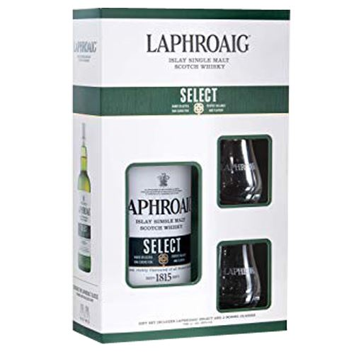 Laphroaig Select 70cl & 2 Glass Gift Pack