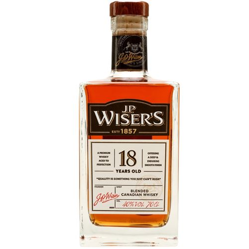 J.P. Wisers 18 Year Old Whisky 70cl 40% ABV