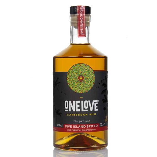 One Love Five Island Spiced Rum 70cl 43% ABV