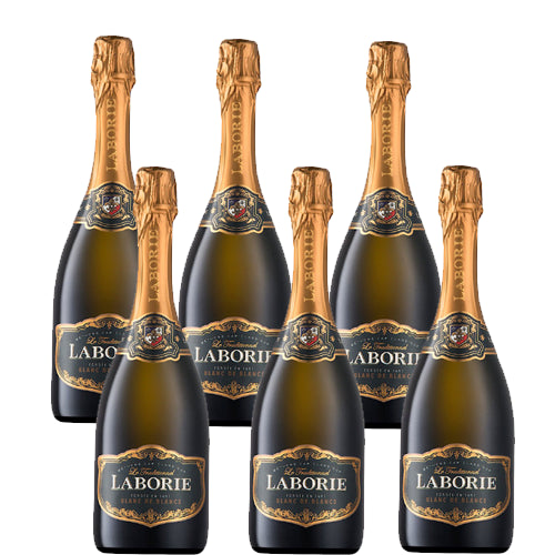 Laborie Cap Classique Blanc De Blanc Sparkling Wine - Case of 6x75cl