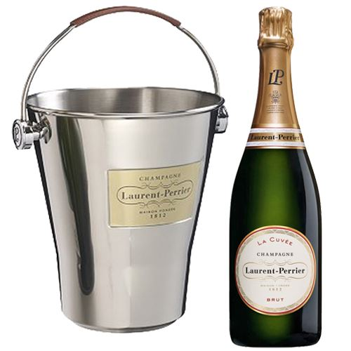 Laurent Perrier La Cuvee Brut Champagne 75cl with LP Ice Bucket 12% ABV