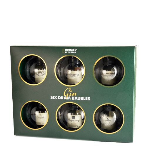 Drinks by the Dram Gin Baubles (2018 edition) 6 x 3cl