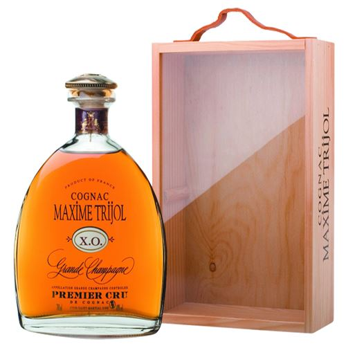 Maxim Trijol Classic XO Cognac 70cl Decanter Bottle in Wooden Gift Box 40% ABV