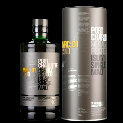 Port Charlotte MRC:1 7 Year Old Heavily Peated Islay Single Malt Whisky 70cl 59.2%