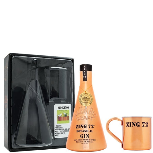 Zing 72 Gin & Tin Cup Gift Set 70cl 40% ABV