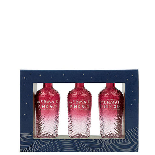 Mermaid Pink Gin Miniature Gift Pack 3 x 5cl