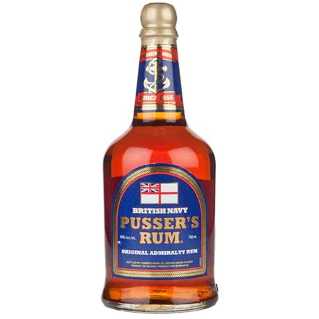 Pussers Blue Label Original Admiralty Rum 40% ABV - New Blend 70cl