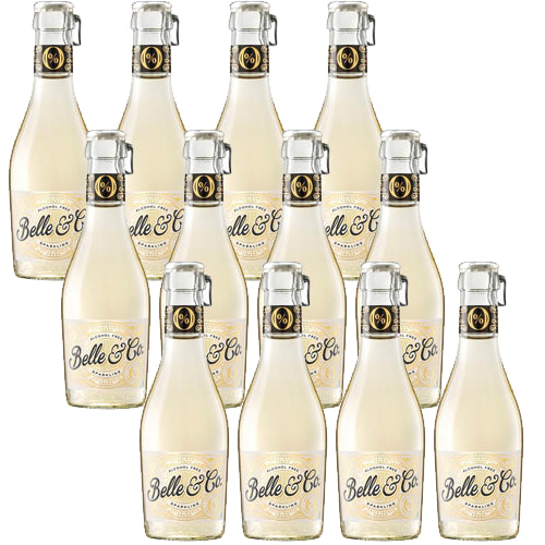 Belle & Co Sparkling Brut Alcohol Free 0.0% Single Serve 20cl Case of 12