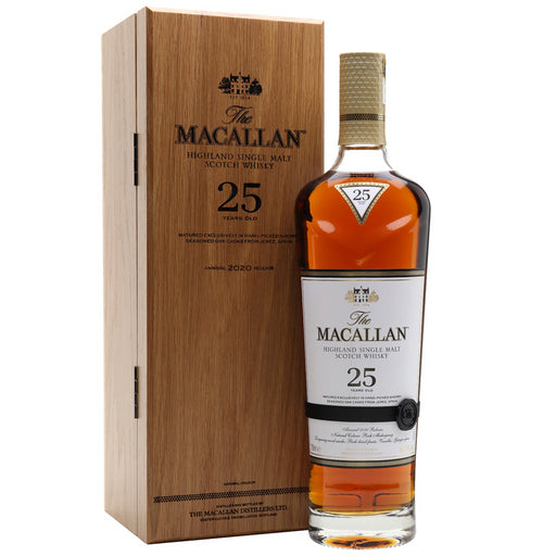 Macallan 25 Year Old Sherry Oak 2020 Release Whisky 70cl