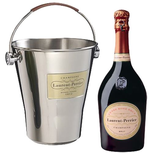 Laurent Perrier Rosé NV 75cl With Laurent Perrier Champagne Ice Bucket 12% ABV