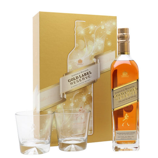 Johnnie Walker Gold Label Reserve 200th Anniversary 2 Glass Gift 70cl