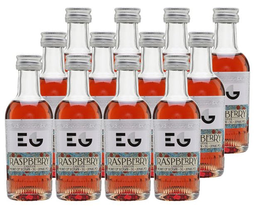Edinburgh Gin Raspberry Liqueur Case of 12 x 5cl miniatures 20% ABV