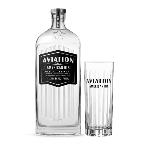 Aviation Gin 70cl and Branded Gin Tumbler