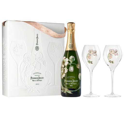 Perrier Jouet Belle Epoque Vintage 2012 Champagne 75cl and Two Glass Gift Set