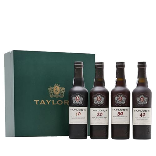 Taylors Century of Port Gift Set 4 x 37.5cl in Wooden Gift Box 20% ABV